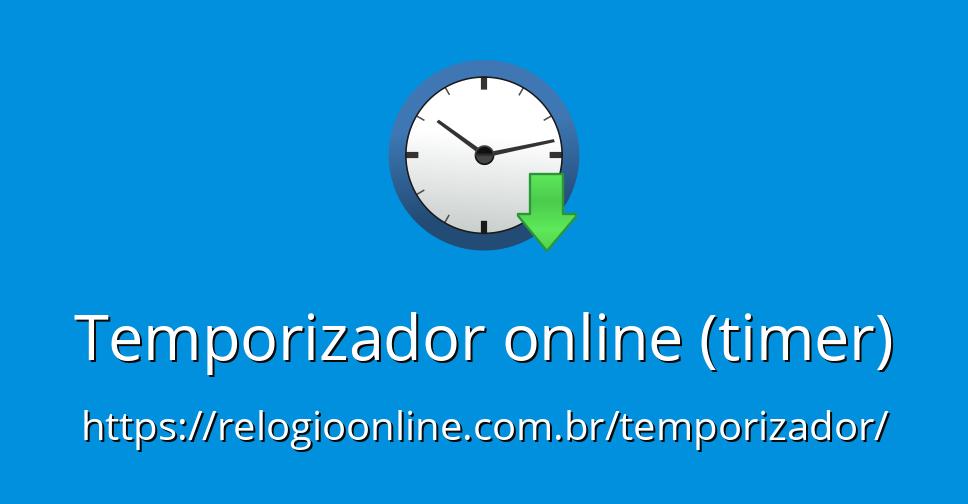 9196107a917 Temporizador online (timer) - RelogioOnline.com.br