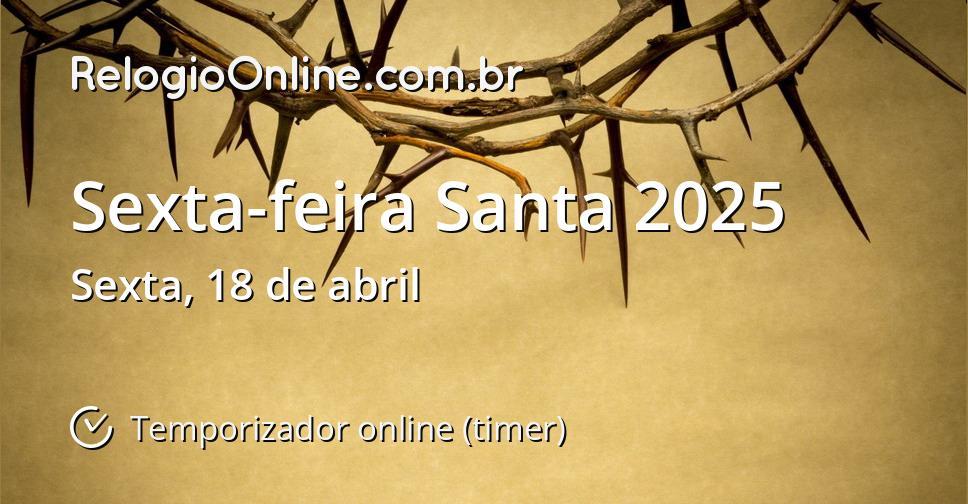 Sexta-feira Santa 2025